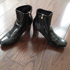 Etienne Aigner black heeled booties